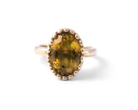 Why Jewellery Citrine Ring - Yellow Gold Plated