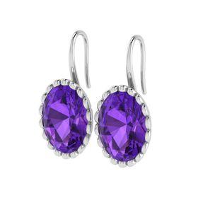 Why Jewellery Amethyst Hook Earrings - Silver