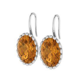 Why Jewellery Citrine Hook Earrings - Silver
