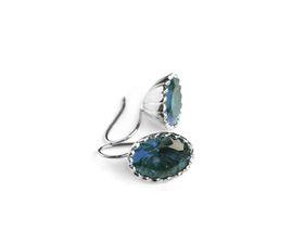 Why Jewellery Topaz Hook Earrings - Silver