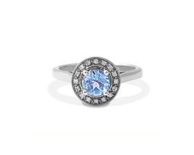 Why Jewellery Diamond and Topaz Ring - Silver