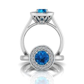 Why Jewellery Diamond and Topaz Ring - Silver (Size: N)