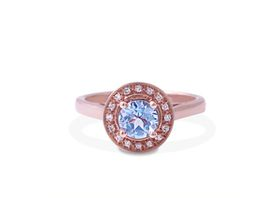 Why Jewellery Diamond and Topaz Ring - Rose Gold Plated