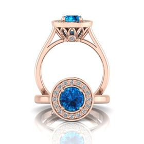 Why Jewellery Diamond and Topaz Ring - Rose Gold (Size: N)