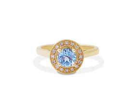 Why Jewellery Diamond and Topaz Ring - Yellow Gold Plated