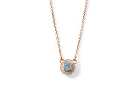 Why Jewellery Diamond and Topaz Pendant And Chain - Rose Gold