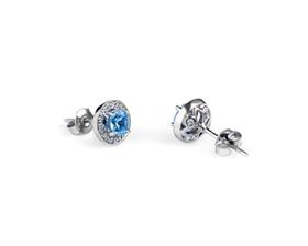 Why Jewellery Diamond and Topaz Studs - Silver