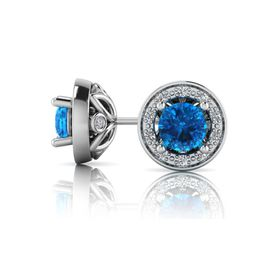 Why Jewellery Diamond and Topaz Studs - Silver