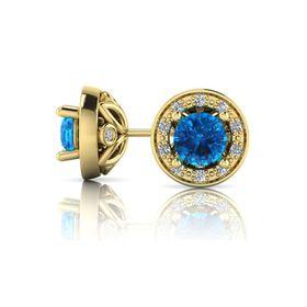Why Jewellery Diamond and Topaz Studs - Yellow Gold