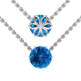 Why Jewellery Topaz Pendant And Chain - Silver