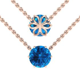 Why Jewellery Topaz Pendant And Chain - Rose Gold