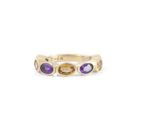 Why Jewellery Amethyst And Citrine Eternity Ring - Yellow Gold Plated