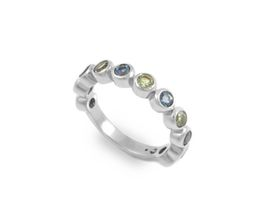 Why Jewellery Peridot And Topaz Eternity Ring - Rose Gold Plated