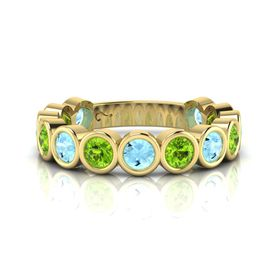 Why Jewellery Peridot And Topaz Eternity Ring - Yellow Gold (Size: N)