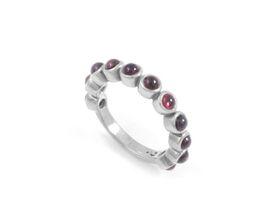 Why Jewellery Rhodolite Eternity Ring - Silver