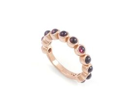 Why Jewellery Rhodolite Eternity Ring - Rose Gold Plated