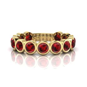 Why Jewellery Rhodolite Eternity Ring - Yellow Gold (Size: N)