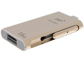 PQI 16GB iConnect Flash Drive - Gold