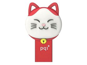 PQI 64GB iConnect 303 Flash Drive - Red
