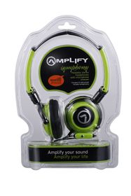 Amplify Symphony Headphones with Mic - Black/Green