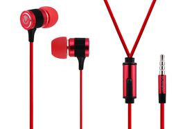 Volkano Metallic Series Earphones with Mic - Red