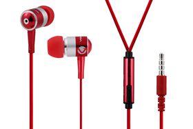 Volkano Metallic Series Earphones with Mic - Red