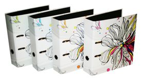 Donau Lever Arch File A4 75mm - Flowers (Pack of 4)