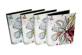 Donau Fashion 2 x 25mm O-Ring Binders - Flowers (Pack of 4)