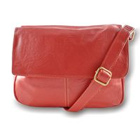 Moire Fashion Handbag - Red 7014