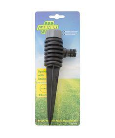 Lasher Tools - Hose Fitting Circular Plastic Spike Sprinkler