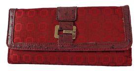 Fino Jacquard Purse B030-765 - Red