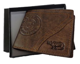 Fino Men's Leather Wallet with Sim Card Holder HL-002/Ryo - Brown