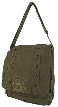 Fino Canvas Unisex Messenger Bag SK728 - Dark Green