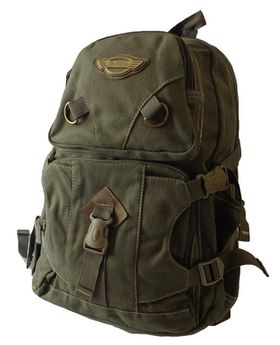 17L Canvas Utility Backpack 8525 Green
