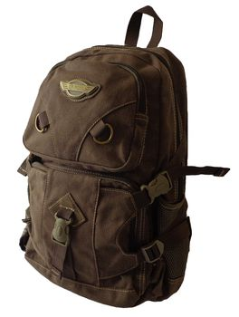 17L Canvas Utility Backpack 8525 - Dark Brown