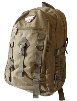 17L Canvas Utility Backpack 8527 - Khaki