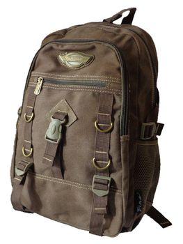 17L Canvas Utility Backpack 8527 - Dark Brown
