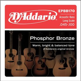 D'Addario EPBB170 Phosphor Bronze 4-String Long Scale Acoustic Bass Strings - 45-100