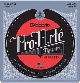D'Addario EJ45TT Pro-Arte DynaCore Titanium Trebles Normal Tension Classical Guitar Strings