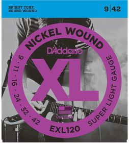 D'Addario EXL120 Nickel Wound Super Light Electric Guitar Strings - 9-42