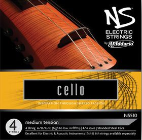 D'Addario NS Electric Mediun Tension 4/4 Scale Cello String Set