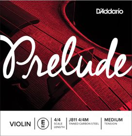 D'Addario Prelude Medium Tension 4/4 Scale Violin E Single E String