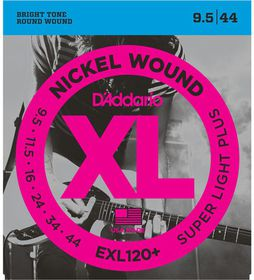 D'Addario EXL120+ Nickel Wound Super Light Electric Guitar String - 9.5-44