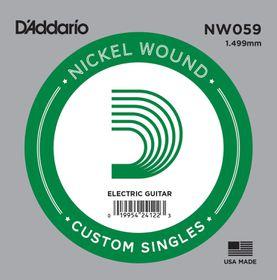 D'Addario NW059 Nickel Wound Single Electric Guitar String - .059