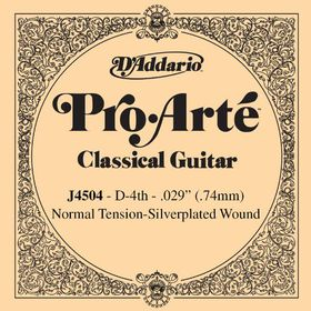 D'Addario J4504 Pro-Arte Normal Tension Nylon Classical Guitar Single String - D Fourth String
