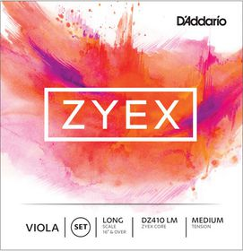D'Addario Zyex Medium Tension 4/4 Scale Viola Strings With Aluminum