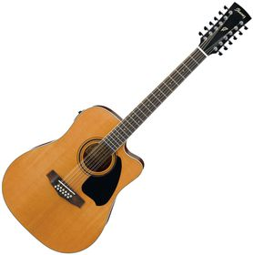 Ibanez 12-String Acoustic Electric Guitar - Natural