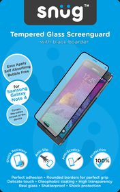 Snug Tempered Glass Screenguard for Note 4 - Black