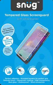 Snug Tempered Glass Screenguard for Note 4 - White