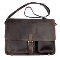 John Buck Office Bag - Dark Brown